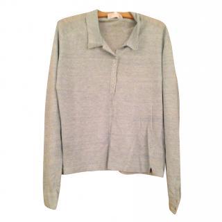 Nicole  Farhi pure linen knit top