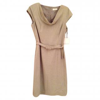 Calvin Klein Grey Wool Dress