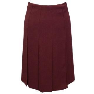 Marc Jacobs Burgundy Pleated Skirt