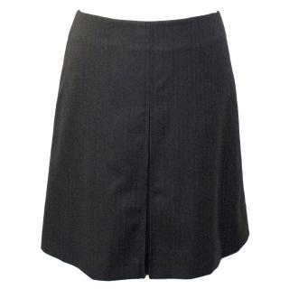 A.P.C. Grey Wool A-Line Skirt