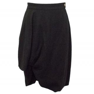 Vivienne Westwood Red Label Black Wool Skirt With Ruched Detail