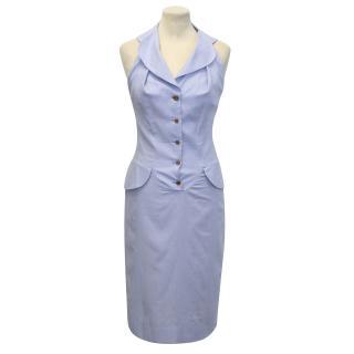 Vivienne Westwood Red Label Blue Halterneck Pinstripe Dress