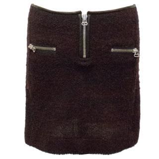 Etoile Isabel Marant Burgundy Boucle Skirt