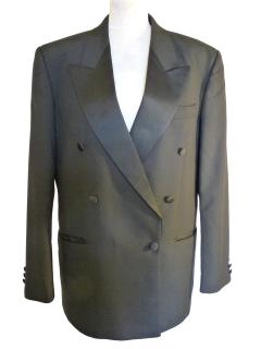 Pierre Cardin Mens Black Double Breasted Blazer