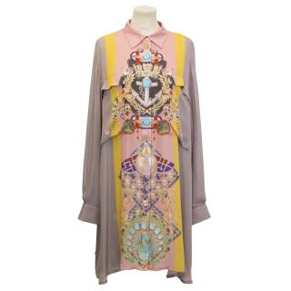 Mary Katrantzou Dusty Rose Patterned Shirt Dress