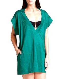Eres Zephyr  green cotton kaftan/tunic