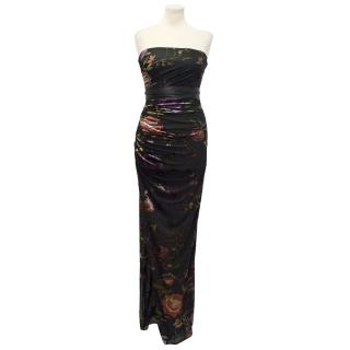 Emanuel Ungaro Floral Silk Maxi Dress