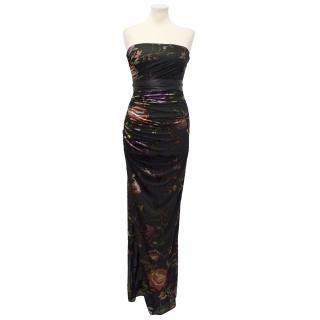 Emanuel Ungaro Floral Silk Maxi Dress