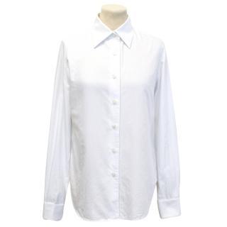 Maison Martin Margiela White And Blue Pinstripe Shirt