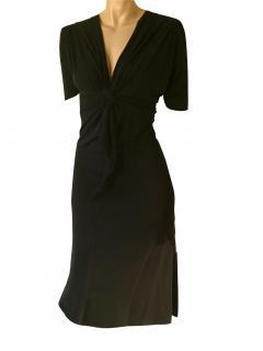 Alberta Ferretti black jersey dress