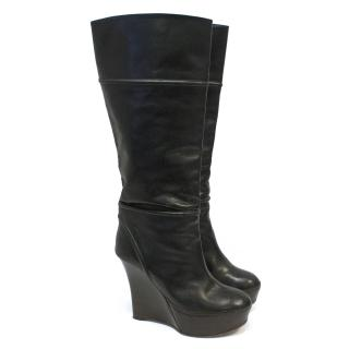 Marni Dark Brown Tall Heeled Boots