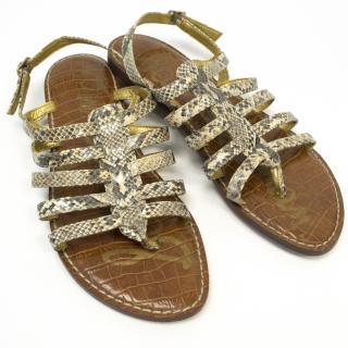 Sam Edelman Snakeskin Effect Sandals