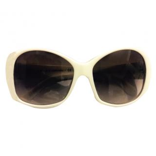 Prada White Sunglasses