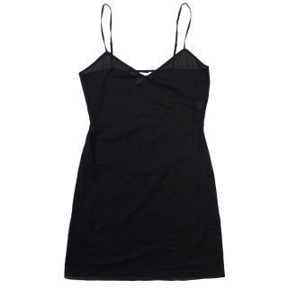 Diane Von Furstenberg Black Silk And Cotton Strap Top