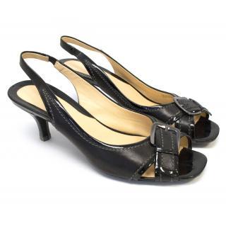 Cole Haan Black Sling Back Heels