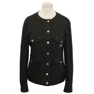 Sonia Rykiel Jeans Black Denim Style Jacket