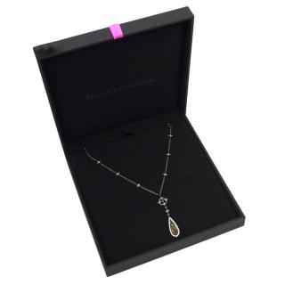 Theo Fennell Black & Silver Necklace with Yellow Sapphire Pendant