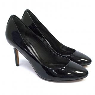 Coach Black Patent Court Heels