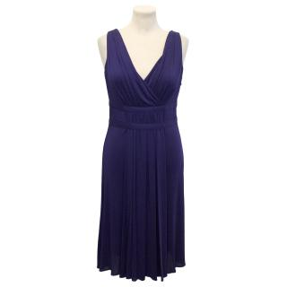 Moschino Cheap And Chic Purple Grecian Style Cocktail Dress