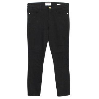 Frame Black 'Le High Skinny Crop' Jeans