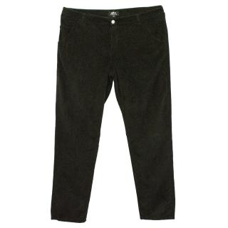 A.P.C. Dark Green Ribbed Trousers