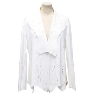 Issey Miyake Cream Perforated knit Jacket