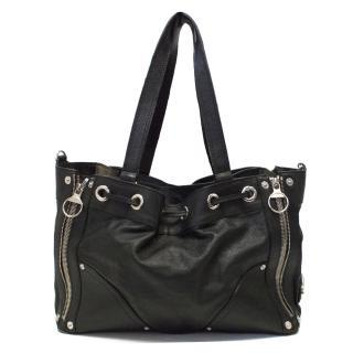 Mulberry Black Shoulder Bag with Zip Detailing