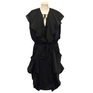 Malene Birger Black Satin Dress