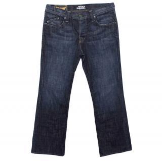 Rock & Republic Dark Denim Straight Leg Jeans With Gold Detail