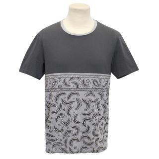 Kidda Christopher Shannon Mens Paisley Grey T-Shirt