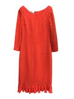 Vintage Valentino Boutique Red Polka Dot Dress