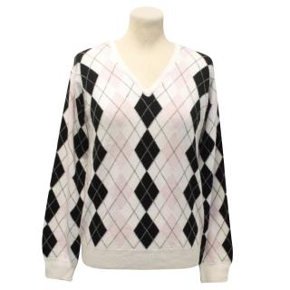 Pringle Off White Diamond design Jumper