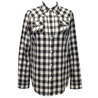 Elizabeth And James Cream And Black Check Shirt
