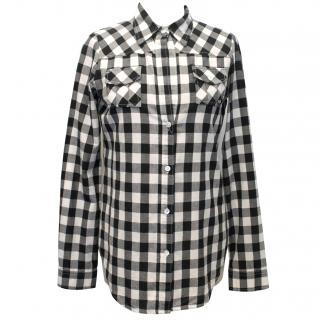 Elizabeth And James Cream And Black Check Shirt
