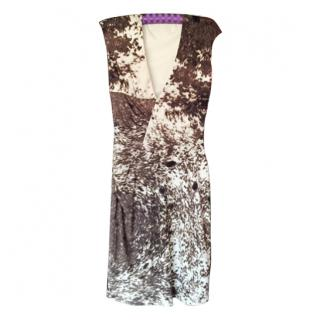 Roberto Cavalli animal print V neck dress