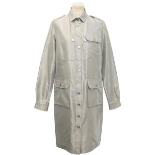 Aquascutum Slate Grey/Silver Silk Blend Jacket