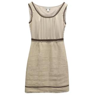 Philosophy Di Alberta Ferretti Beige Silk and Linen Dress