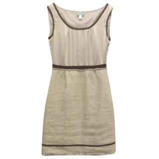 Philosophy Di Alberta Ferretti Beige Silk and Linen Dress