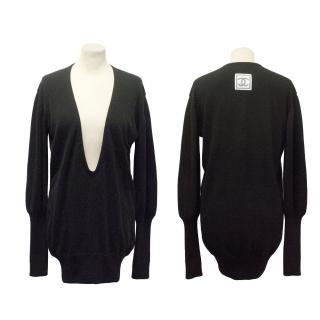 Chanel Black Cashmere Jumper