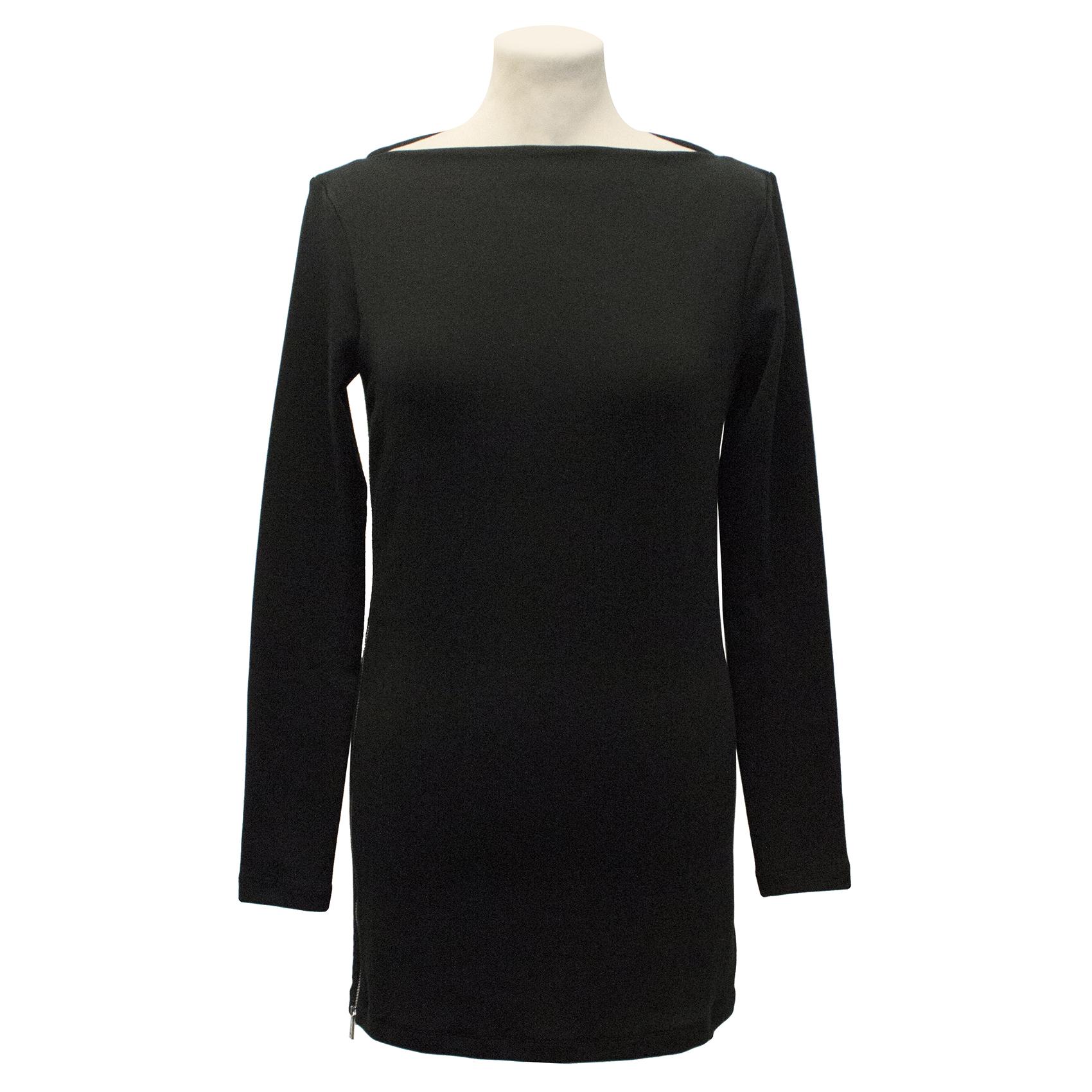 Ralph Lauren Black Label Black Knit Tunic