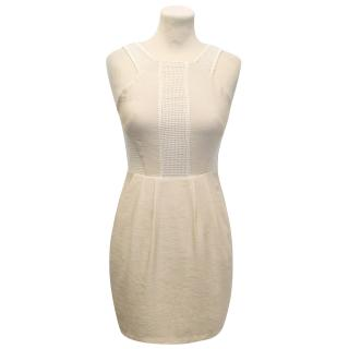 Finders Keepers Cream Dress With White Netting Detail