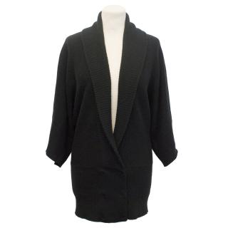 Yaya Aflalo Black Wool and cashmere Cardigan