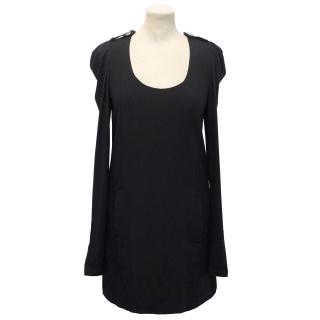 Patrizia Pepe Midnight Blue Wool blend Long Sleeve Dress