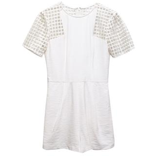 Finders Keepers White Latice Playsuit
