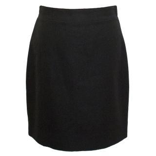 Yves Saint Laurent Edition 24 Black Wool Skirt
