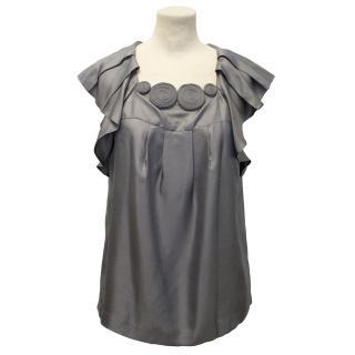 Designers Remix Charlotte Eskildsen Grey Silk Shirt