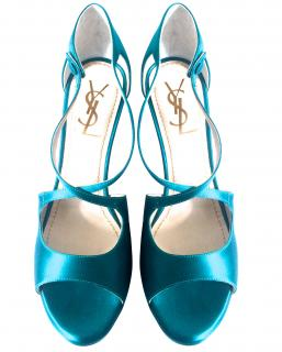 Yves Saint Laurent Turquoise Sandals