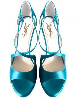 Yves Saint Laurent Turquoise Sandals