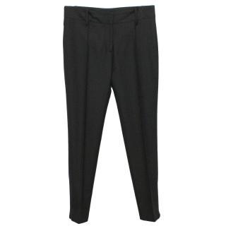 Balenciaga Paris Charcoal Wool Trousers