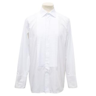 Daniel Hechter White Dress Shirt With Pleating